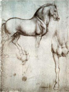 Leonardo da Vinci Milan study of horse